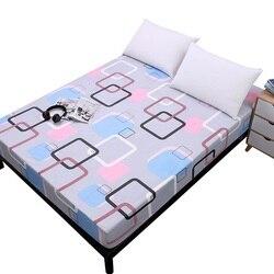 Simplicidade padrão puro impressão escovado capa de colchão de folha com elástico macio roupa de cama têxtil para casa