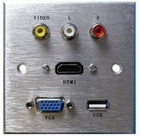 RCA/ses fonksiyonlu bilgi av soket alüminyum malzeme