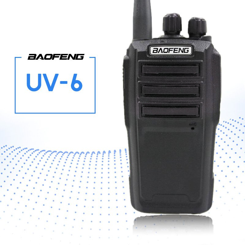 BAOFENG UV-6 Talkie Walkie Deux-way Radio 136-174/400-480 mhz VHF/UHF Dual Band Double émetteur-Récepteur Radio de poche Interphone