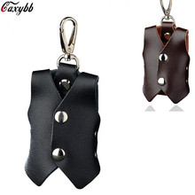 купить Retro Vintage Genuine Leather Key Waistcoat Keychain Covers Key Case Bag Men Key Holder Housekeeper Keys Organizer по цене 137.28 рублей