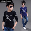 New 2017 kids clothing tops character design fashion boys long sleeves t-shirt 100% cotton children clothes baby girls tees