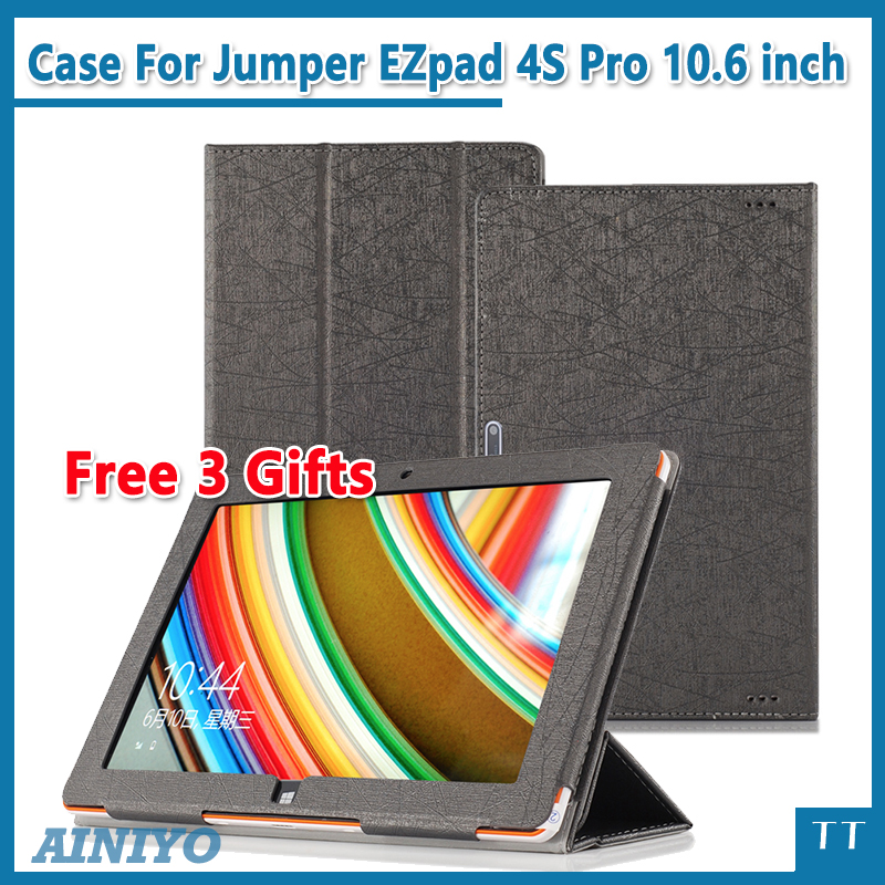 Fashion PU Case Cover for 10.6 inch Jumper EZpad 4S Pro Tablet PC for Jumper EZpad 4S Pro Case Cover + Screen Film gifts for onda obook 20 plus case cover fashion case for obook 10 obook10 pro obook10 se10 10 1tablet pc free 3 gifts