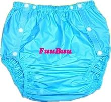 Free shipping FUUBUU2203 Blue L 1PCS adult diapers non disposable diaper plastic diaper pants pvc shorts