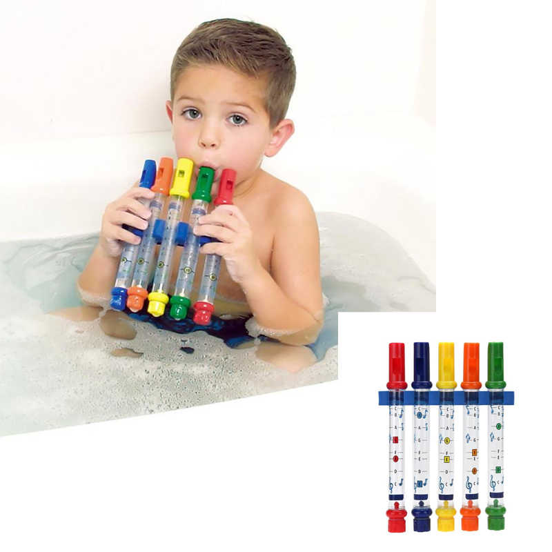 1 Uds. Flauta de agua de juguete para niños música para ducha bañera Tunes juguetes coloridos música sonidos bebé ducha baño juguete