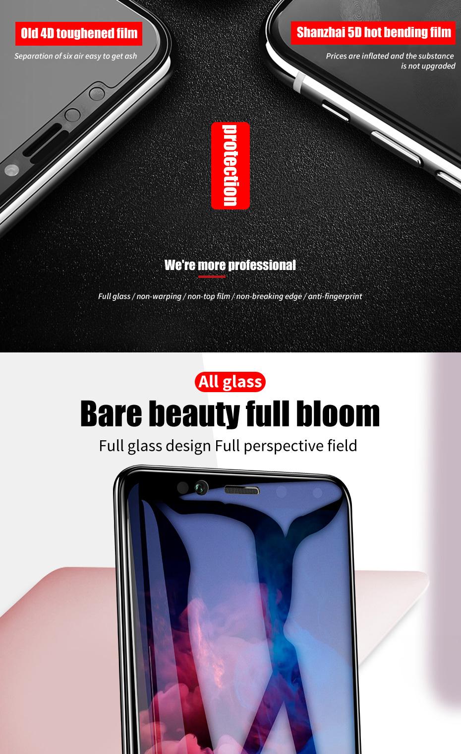 ZNP 5D Screen Protector Tempered Glass For Xiaomi Redmi Note 7 5 Pro Redmi 4X 7A 7 6 Protective Glass For Redmi 5 Plus k20 Film 3