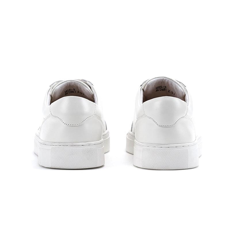 Genuíno Até Rendas Casuais Sapatos Krusdan Verão De Homens Caminhada Couro Calçados 2018 Branco Esportes Apartamentos Vulcanizados Dos Artesanal Tênis gaqZIw