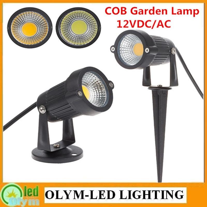 New Style Waterproof 12V LED Garden Light Outdoor 3W 5W 7W 9W COB LED Lawn  Lamp Spike Light Pond Path Landscape Spot Lights In Lawn Lamps From Lights  ...