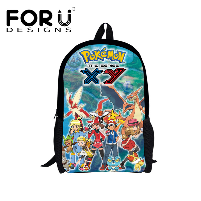 FORUDESIGNS Cute Pokemon Backpack for Teenagers Girls Boys,Kids Canvas Bagpack,Back Bag School,Cartoon Children Bookbag mochila delune new european children school bag for girls boys backpack cartoon mochila infantil large capacity orthopedic schoolbag