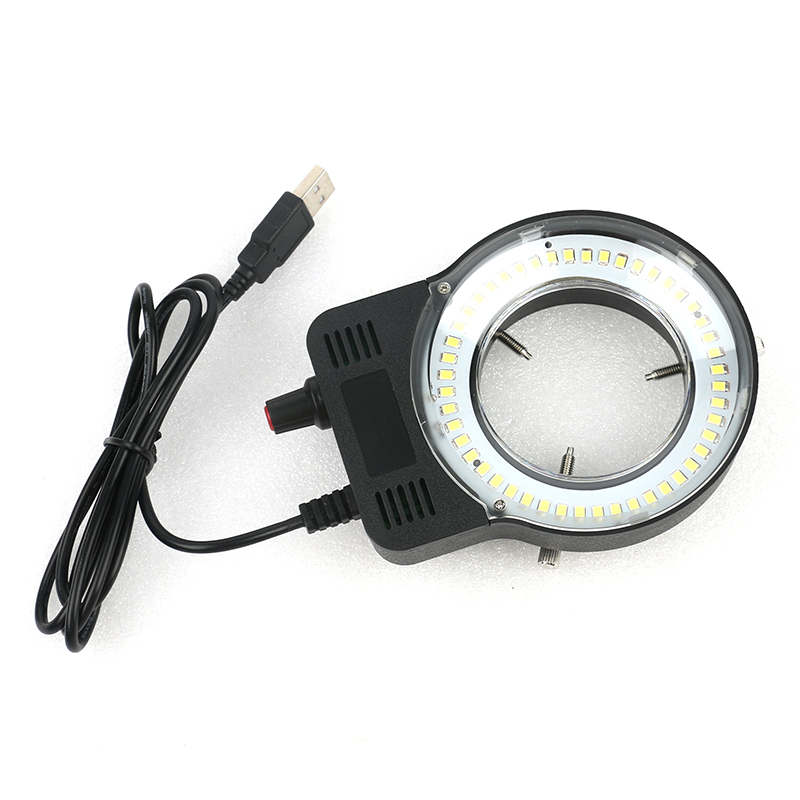 48 LED SMD USB Adjustable Ring Light illuminator Lamp For Industry Microscope Industrial Camera Magnifier 110V-220V 3W-5W