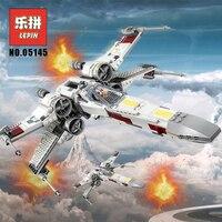 Lepin 05145 Starwars Fighter Star Plan Wars X 75218 Wing Starfighter Model Set Building Blocks Bricks Legoinglys Children Toys