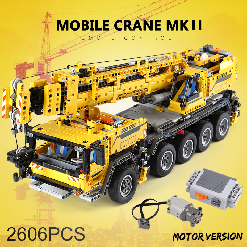 Lepin Technic Electric Crane Truck 20004 20013 20085 Model Building blocks Bricks Compatible LegoINGlys 8258 42009 Crane Truck new lepin 20013 technic series 1877pcs the electric crane truck model building blocks bricks compatible 8258 toy christmas gift