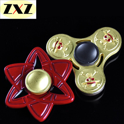 Zinc Hand Spinner Naruto One Piece Fidget Fix Finger Spin toy toys