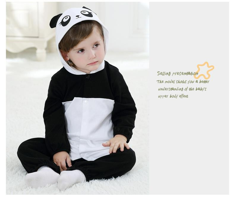 Androktones New Baby Panda Spring Autumn Clothes Kids Boys Girls Jumpsuits Purim Animal Cosplay Pajamas Costumes
