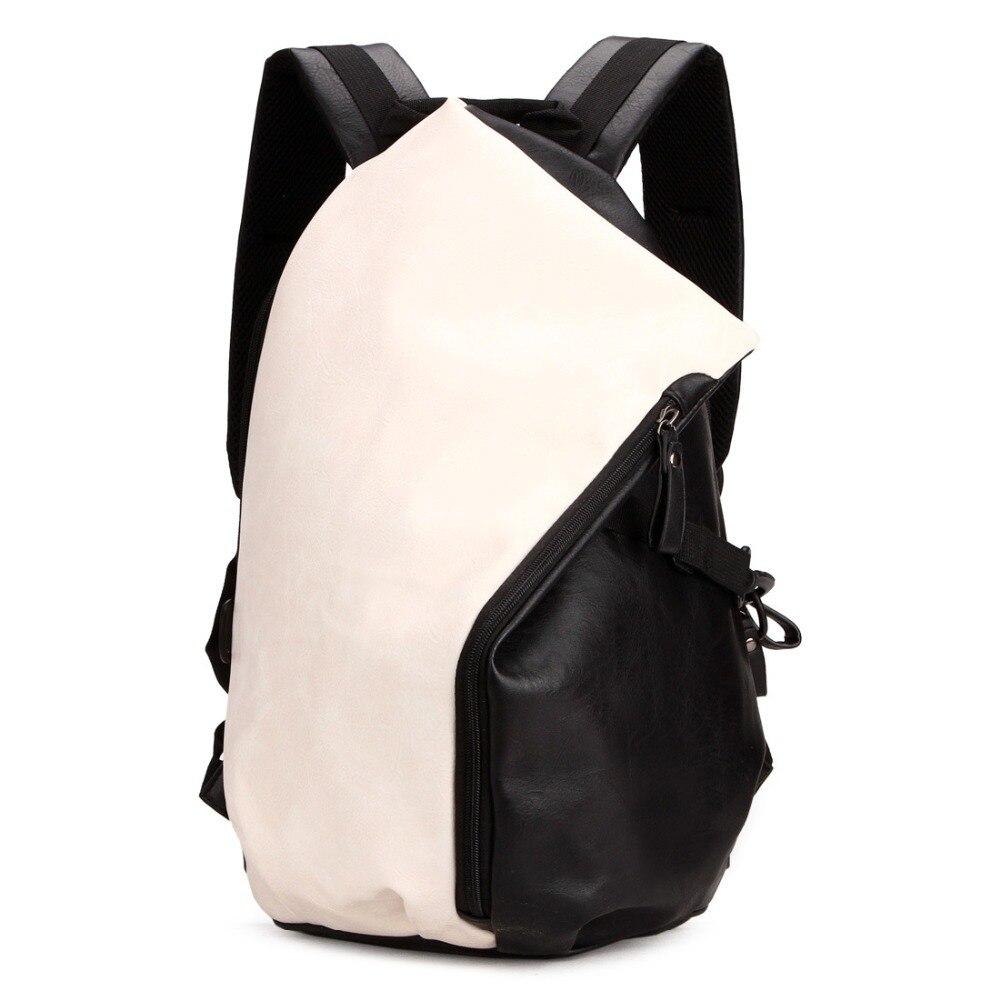 Mode sac à dos pour ordinateur portable pour homme PU cuir femmes voyage sacs à dos cartable sacs d'école pour garçons filles bagpack sac à bandoulière mochilas