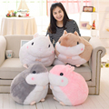 New 45cm Cute Plush Hamster Toys Soft Stuffed Guinea Pig Toys Kwaii Pink Gery Guinea Pig Doll Gift for Children Kids Girls