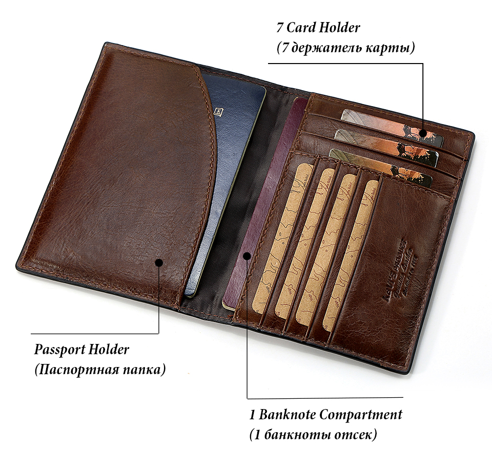 Topdudes.com - Genuine Leather Credit Card Holder Wallet for Men