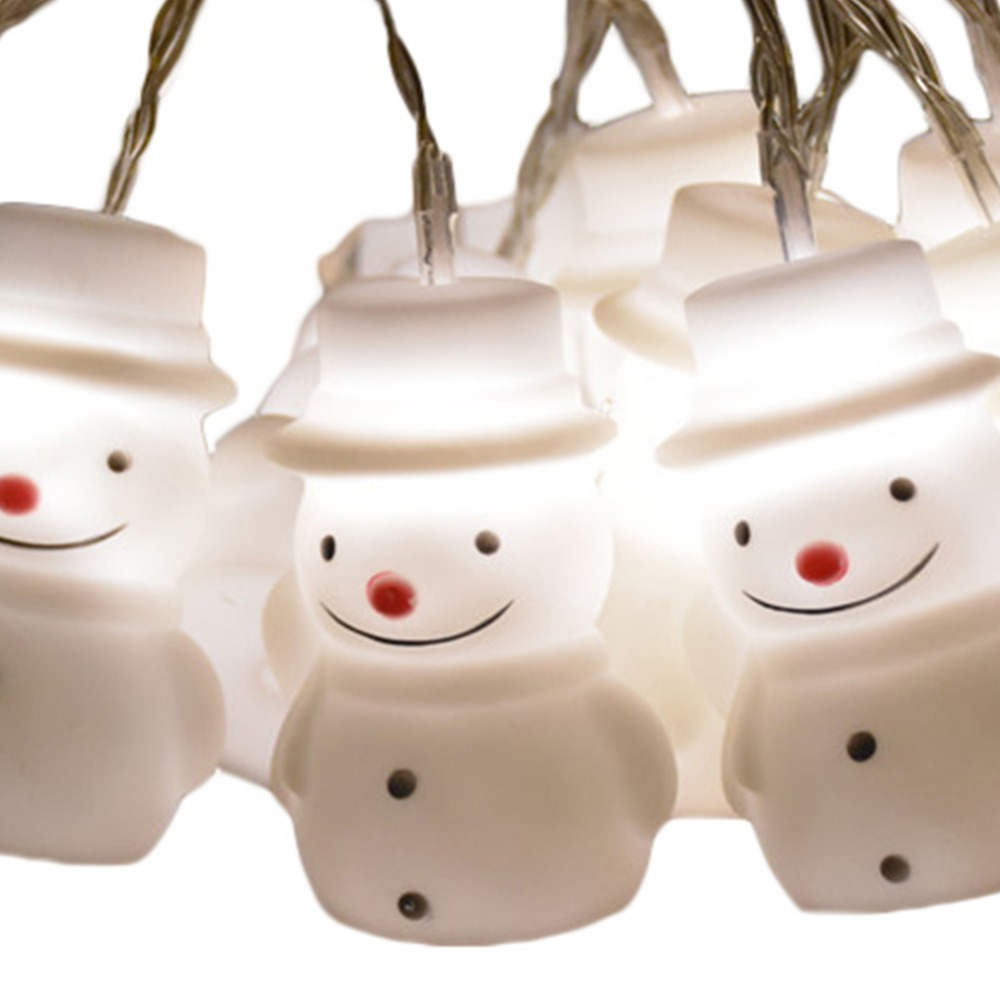 1.5M Snowman LED Fairy String Lights Christmas Snowman Light Home Garden Indoor Party New Year Decoration Fancy Light Olaf