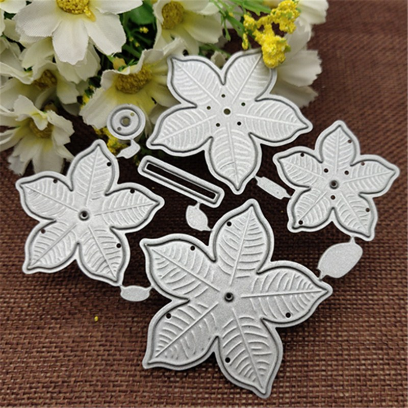 6pcs Flower Metal Cutting Dies Stencils For DIY Scrapbooking Decorative Embossing Handcraft Die Cutting Template