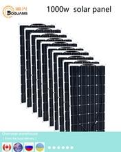 Boguang 1000w panel słoneczny 10*100w moduł słoneczny krzem monokrystaliczny ogniwo złącze PV dla 12v baterii dom RV moc ładowania