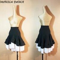 Women's Skirt Latin Dance Skirt Dance Clothing Tassel Fringe Salsa Tango Skirt Long Tassel Bag Hip Training Swing Skirt L139