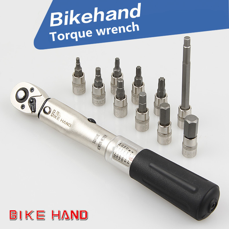 Bicycle repair tool kit torque wrench Allen key tool sleeve set road mtb bicycle tool 1/4'' torque fixed set 2-24 NM 3-10mm недорго, оригинальная цена