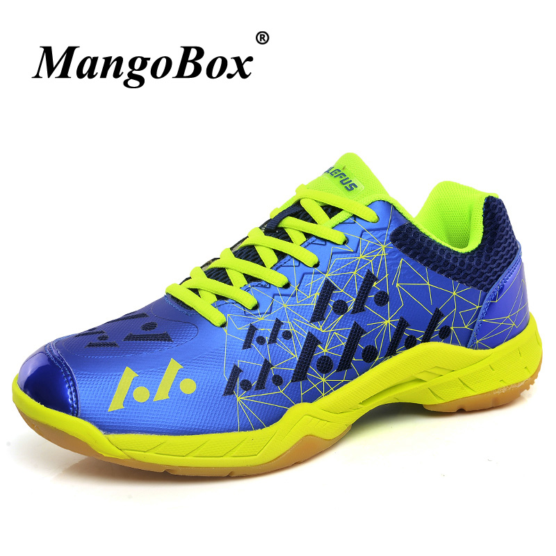 Table Tennis Training For Men Breathable Quality Shoes Light weight Tenis Badminton Sneakers Red Green Mens Indoor Court Shoes