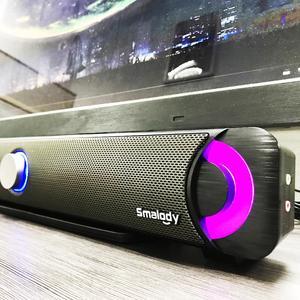Image 1 - Przewodowe głośniki PC Fashion Music usb stereo przenośny głośnik komputerowy z kolorowe diody led Light HiFi głośnik multimedialny do laptopa