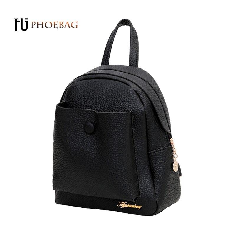 HJPHOEBAG New Fashion Women Backpack Women's PU Leather Backpack luxury girl School Bag High Quality feminine Open Pocket W-529