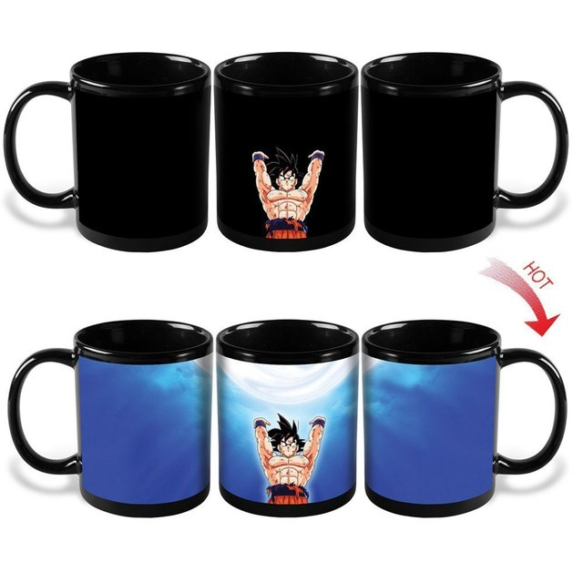 Dragon Ball Z Super Saiyan Son Goku Changing Colors Heat Reactive Magic Coffee Mugs