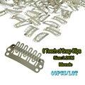 32mm Clips Cap Peruca Loira Grampos de Cabelo Snap Clipes de Extensão Do Cabelo de Silicone Para Tecelagem