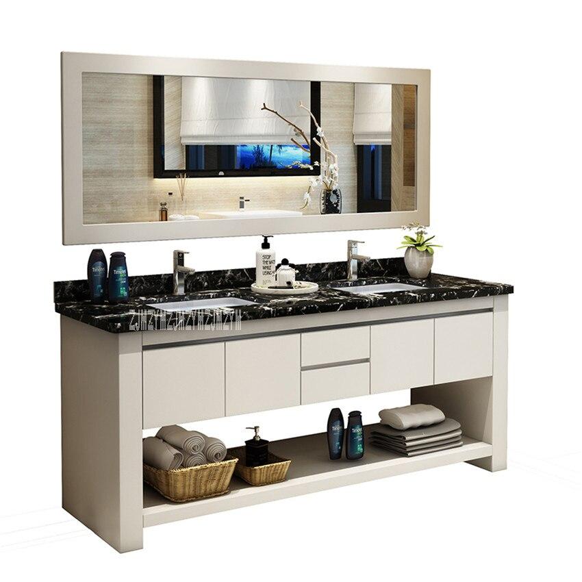 Permalink to 1818 Bathroom Vanities Solid Wood Bathroom Cabinet Combination Wash Basin Cabinet Rubber Wood Vanity Cabinet With Double Basin