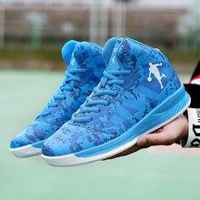 Mens Basketball Shoes High Top Men Sport Shoes Blue Black Kids Basketball Shoes Size 37-45 Male Basketball Shoes Sports цена