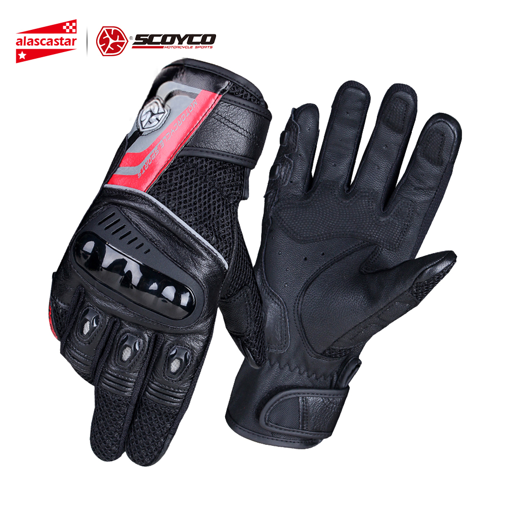 SCOYCO Motorcycle Gloves Breathable Wearable Leather Racing Gloves Motorbike Gant Moto Motocross Guantes Moto Gloves Motorcycle цена