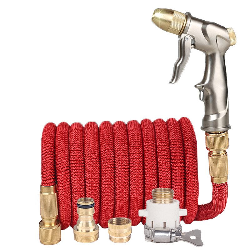 High Quality 25FT-150FT Garden Hose Telescopic Magic Hose Plastic Flexible Car Wash Hose Metal Spray Gun Outdoor Garden Watering