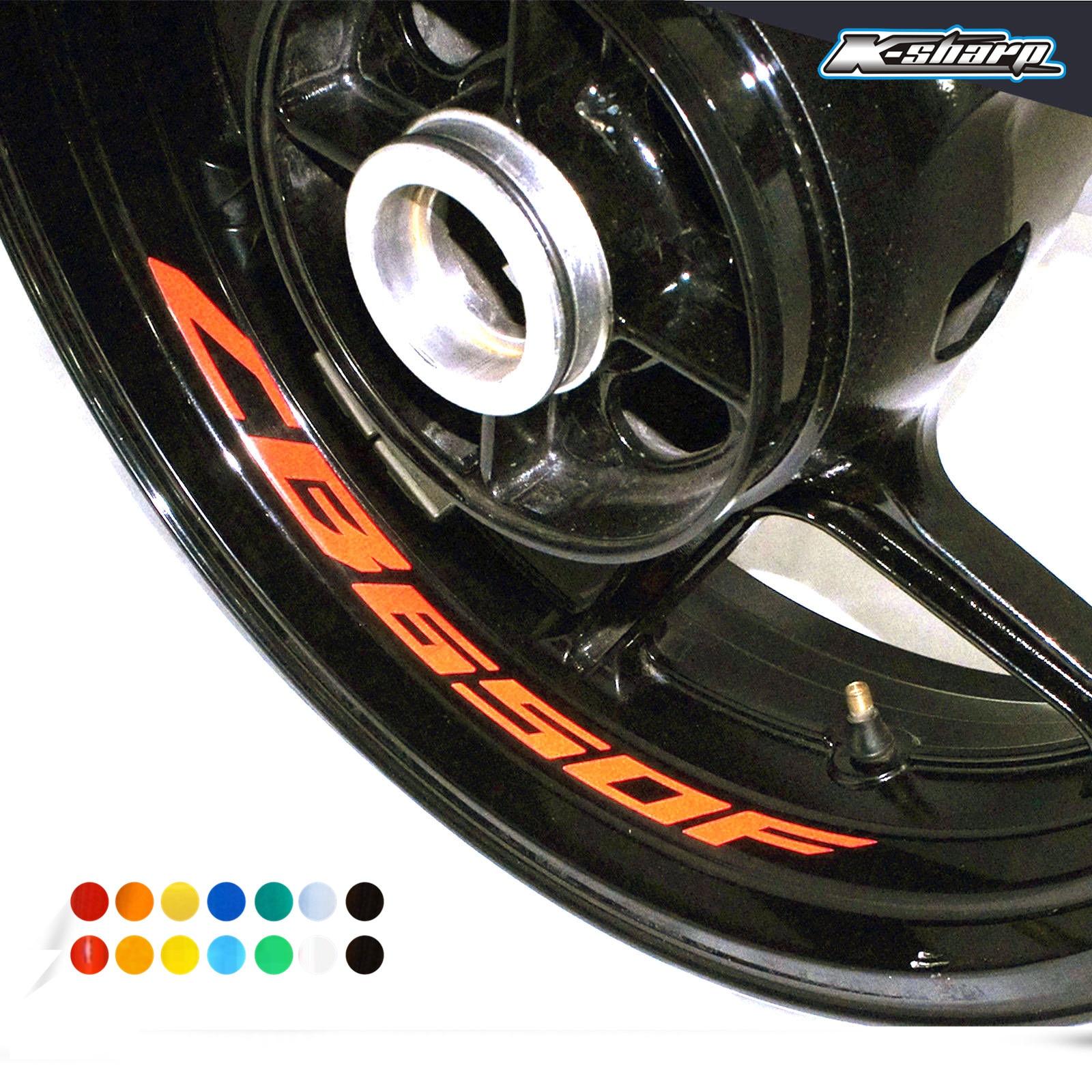 8 X Custon Inner Rim Decals Wheel Reflective Stickers Stripes FIT HONDA CB650F