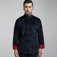 2018 Yue Manufacturers Selling Velveteen Even Shoulder 14366 Middle aged And Old Long Sleeve Outfit Male Qiu Dong Thick Coat