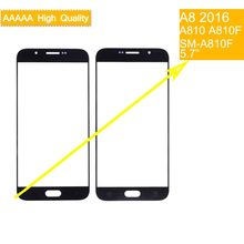 10 stücke TouchScreen Für Samsung Galaxy A8 2016 A8100 A810 A810F A810DS A810H Touch Screen Front Panel Glas Objektiv Front äußere LCD(China)