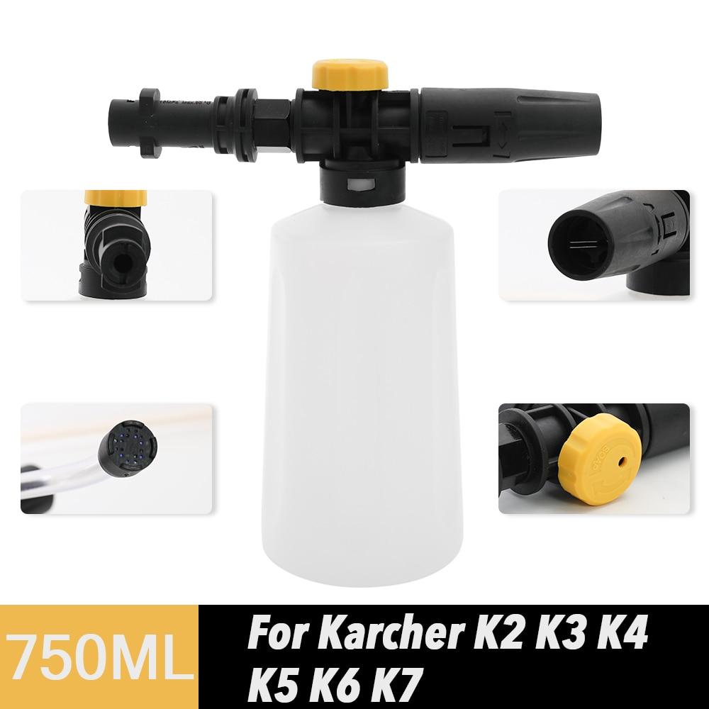 750ML Snow Foam Lance For Karcher K2 K3 K4 K5 K6 K7 Car Pressure Washers Soap Foam Generator With Adjustable Sprayer Nozzle