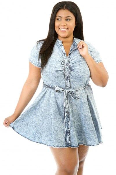 Online Get Cheap Plus Size Denim Skater Dress -Aliexpress.com ...