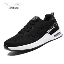 Men Casual Sports Shoes Comfortable Lightweight Running Sneakers Male Air Cushion Mesh Breathable Outdoor Sneakers Man Shoes li ning men s cushion running shoes breathable textile sneakers support tpu lining sports shoes arhm057 xyp478