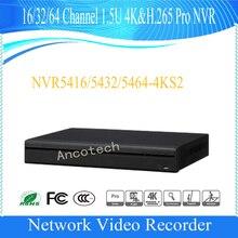 DAHUA 64 Channel 1.5U 4K&H.265 Pro Network Video Recorder without Logo NVR5464-4KS2