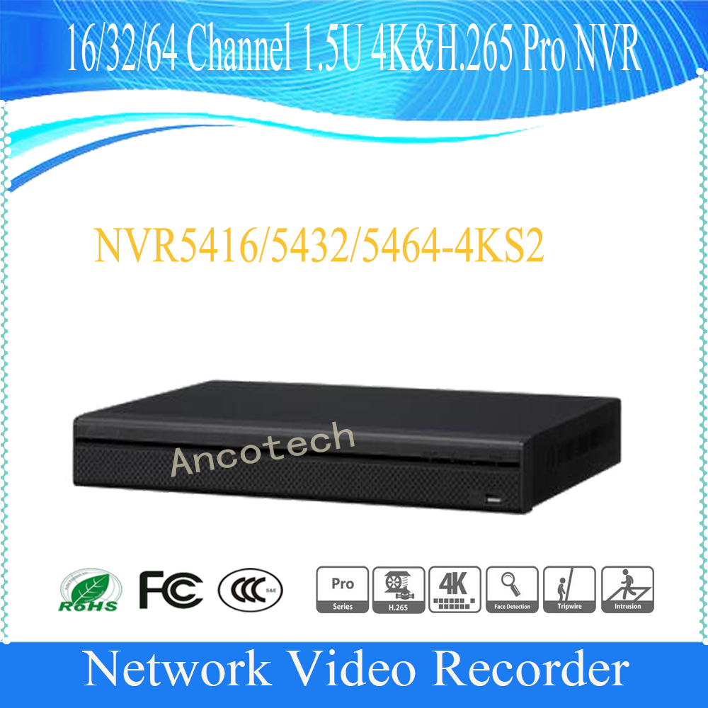 DAHUA 64 Channel 1.5U 4K&H.265 Pro Network Video Recorder without Logo NVR5464-4KS2