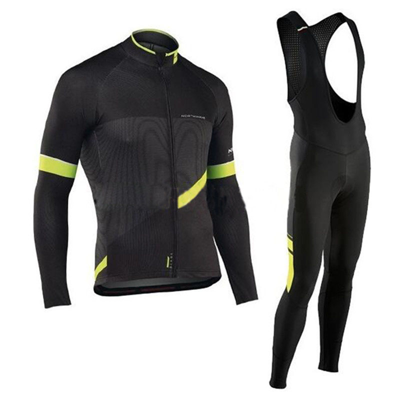 triathlon NW Spring autumn Men Cycling Jersey Set MTB Bicycle outdoor sport Cycling Clothing Long Sleeve Ropa Ciclismo hombre
