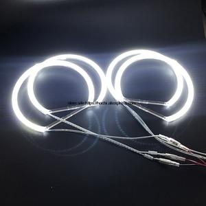 Image 4 - 146 مللي متر x 4 قطعة الترا برايت مصلحة الارصاد الجوية الأبيض LED عيون الملاك 2600LM 12 فولت خاتم على شكل هالة عدة النهار ضوء