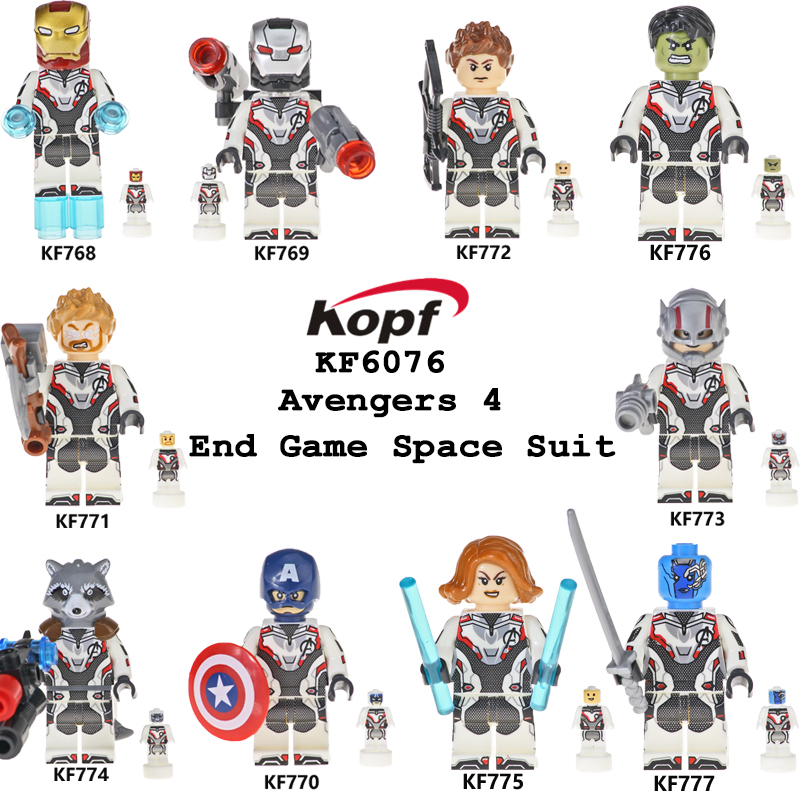 9898f9aecbcbe Single Sale Building Blocks Avengers 4 End Game Space Suit With Micro  Figures Tony Stark Thor Hawkeye For Children Toys KF6076