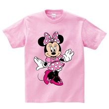 Girls Lovely Minnie mouse Cartoon T shirt kids summer Short Sleeves t baby 100%cotton T-shirt boy O-Neck tee shirts Mickey