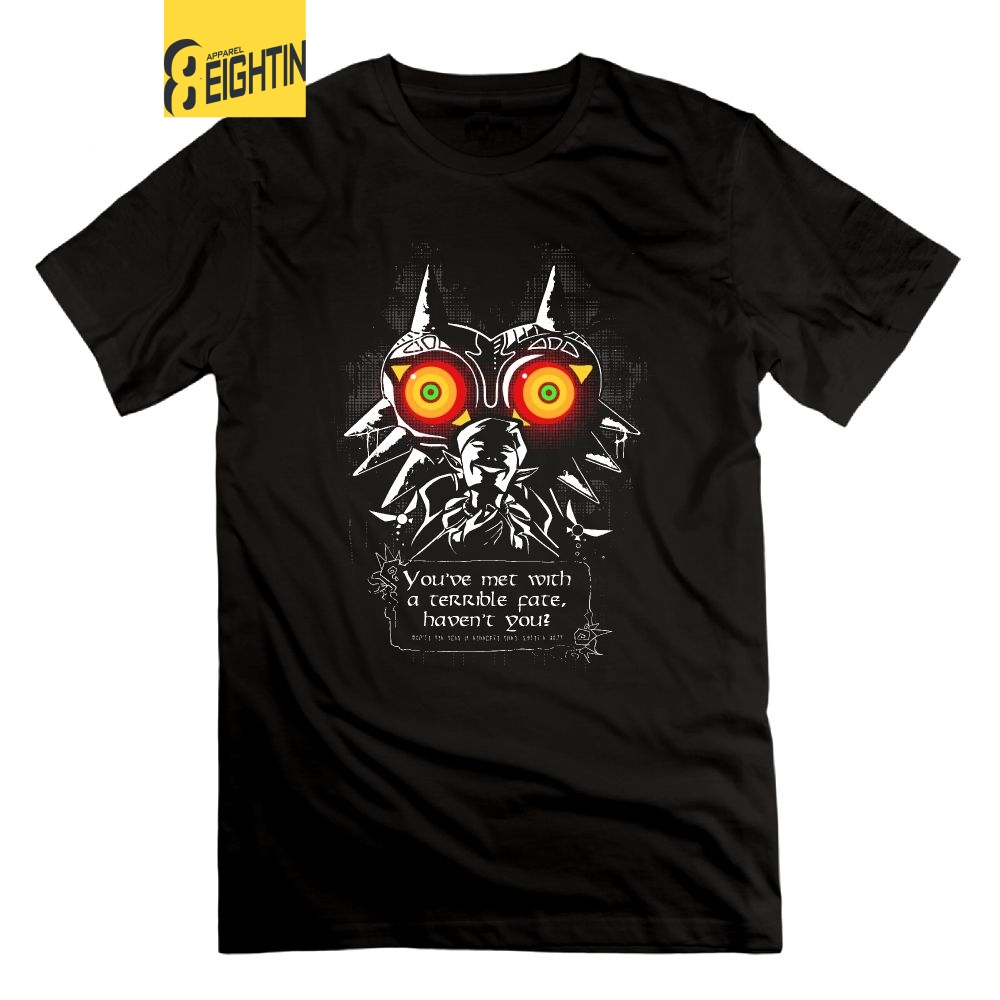 Eightin The Legend Of Zelda Majoras Mask Meeting With a Terrible Fate   T     Shirt   Short Sleeves   T  -  Shirt   Men's O Neck Cotton Tees