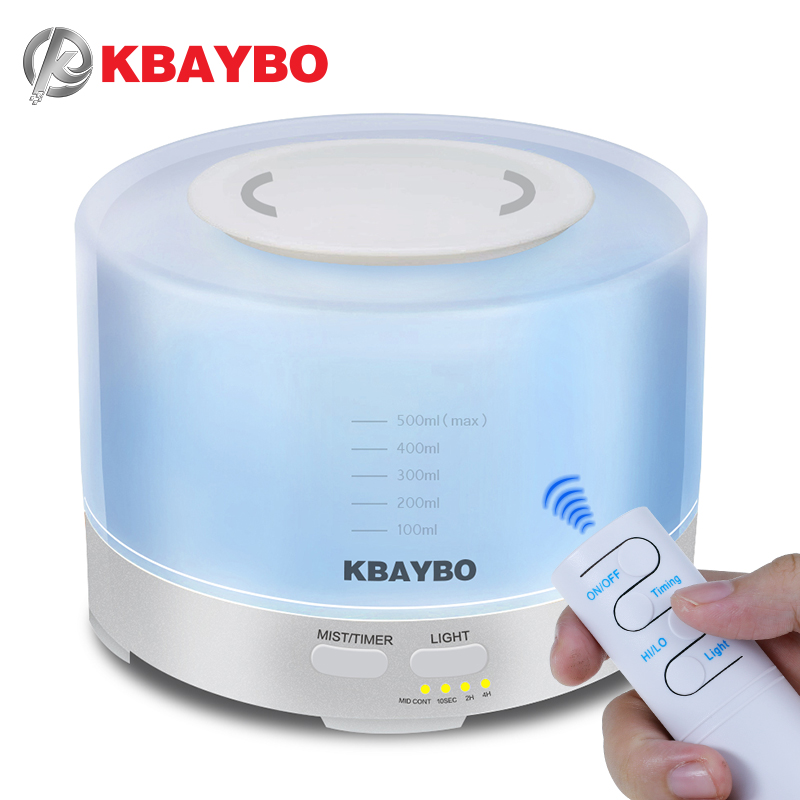 KBAYBO 500ml Ultrasonic Air Humidifier Essential Oil Diffuser with remote control humidify Aromatherapy mist maker for homeKBAYBO 500ml Ultrasonic Air Humidifier Essential Oil Diffuser with remote control humidify Aromatherapy mist maker for home