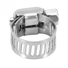 50Pcs 5 Sizes Stainless Steel Hose Clamp Hose Fuel Line Worm Clip Clamps for Tube Pipe hose clip tc 206h 8 60mm world tyrants bully stainless steel hose antagonistic fight tube cutter
