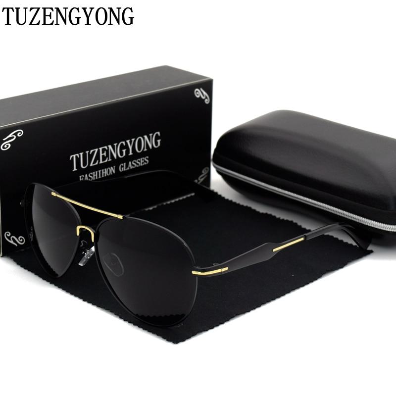 TUZENGYONG 2017 Pánské značkové sluneční brýle HD Polarized Night Driving Sluneční brýle oculos Příslušenství pro brýle pro muže T98681